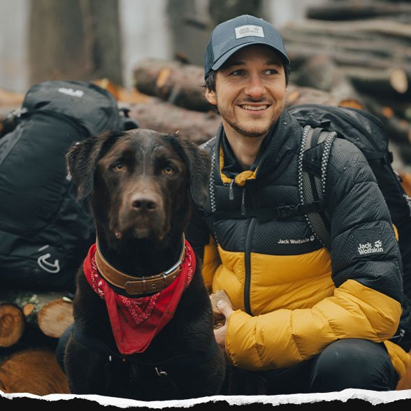 Hiker with dog